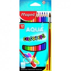 MAPED Crayons de couleur aquarellables COLOR'PEPS AQUA, 12