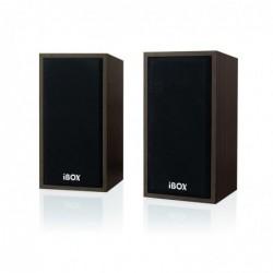 IBOX Enceintes PC / Stations MP3 RMS 2x5 W IGLSP1 2.0 Look Bois