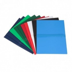 FAST Pack de 10 chemises à sangle 1 rabat extensible 24x32 Balacron Couleurs assorties