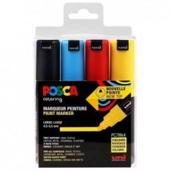 POSCA étui de 4 marqueurs à pigment POSCA PC7M
