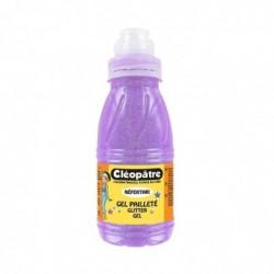 CLÉOPÂTRE Gel Pailleté Néon Violet 250 ml