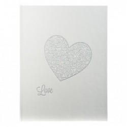 EXACOMPTA Livre d'or100p HARMONY 27x22 blanc+coeur