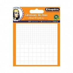 CLÉOPÂTRE Cléofoam carrés mousse en 2 mm d'épaisseur prédécoupé (200 minis + 50 maxis)