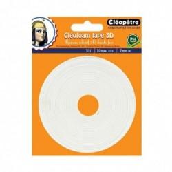 CLÉOPÂTRE Cléofoam tape 3d rouleau adhésif double face ép 2mm (long: 5 mètres)