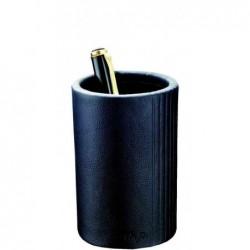 LÄUFER Pot à crayons La Linea, en cuir, noir 100 mm, diamètre: 70 mm,