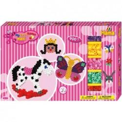 HAMA Kit 900 Perles à repasser 10 mm Papillon, cheval à bascule + accessoires