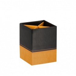 CLAIREFONTAINE RHODIA Pot à crayons, en similicuir, noir