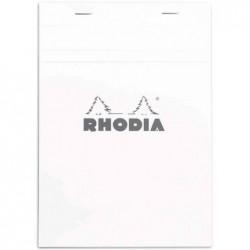 RHODIA Bloc Blanc N°16 14,8x21cm 80F agrafées 80g Q.5x5