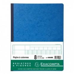 EXACOMPTA PIQ. 32/25 8 COLONNES 80p. Bleu