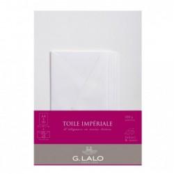 G.LALO ensembles 10 feuilles A4 et 5 enveloppes DL Toile Impériale