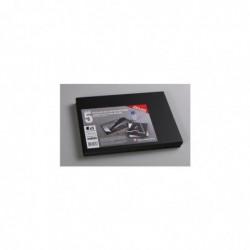 CLAIREFONTAINE Un paquet de 5 Feuilles de Carton mousse épaisseur 5mm 21x29,7 cm NOIR