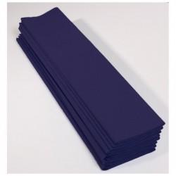 CLAIREFONTAINE Paquet 10F Crépon M75 2.5x0.5m bleu marine