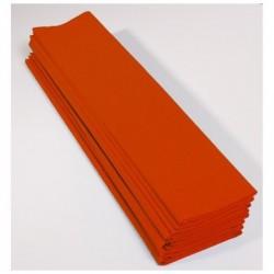 CLAIREFONTAINE Paquet 10F Crépon M75 2.5x0.5m orange