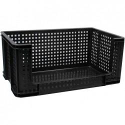 REALLY USE BOX Bac de rangement Ouvert Devant 64 litres Noir