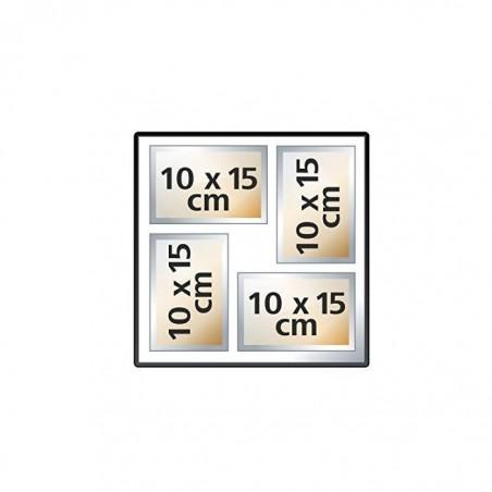 """HAMA Album photo Jumbo """"La Fleur"""", 30x30cm, 100pages blanches, noir"""