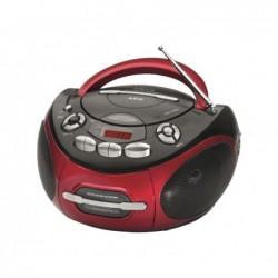 AEG Radio-cassette stéréo AEG CD SR 4366 CD/MP3/USB Noir/Rouge