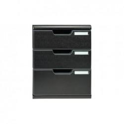 EXACOMPTA Module de classement 3 tiroirs format A4+ Dimensions 28,8 x 32 x 35 cm noir