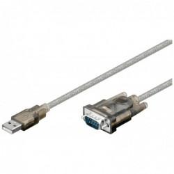 GOOBAY Câble Convertisseur USB serial RS 232  1,5 m  D-SUB/RS-232 male (9-pin)