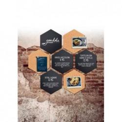 """SECURIT Lot de 7 Pièces (4 Ardoise 3 tableau en liège SILHOUETTE """"Hexagon"""""""