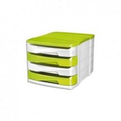 CEP Module de classement Gloss Vert Anis/blanc 4 tiroirs-Dim L29,2 x H24,6 x P38,6 cm