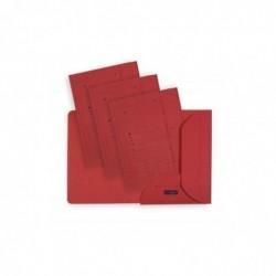 ELBA Lot de 25 Chemises Sous Dossiers ULTIMATE 2 rabats Carte 240 g Rouge