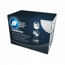 AF Bte de 20 Cardclene Carte Nettoyante pour Tête Magnétique