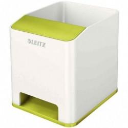 LEITZ Pot à crayons Sound WOW Duo Colour, 2 compartiments, Vert