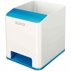 LEITZ Pot à crayons Sound WOW Duo Colour, 2 compartiments, Bleu