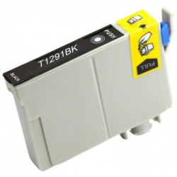 WAYTEX Cartouche compatible pour Epson T1291 BK noir 15ml