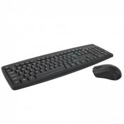 WAYTEX Pack clavier souris sans fils multimédia 2.4 GHz portée 10.00m noir