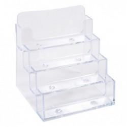 EXACOMPTA Distributeur de cartes de visite 4 cases Office cristal