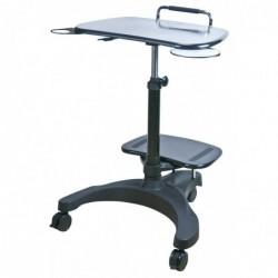 AIDATA Table poste mobile assis/debout pour PC portable avec imprimante