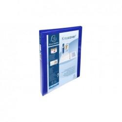 EXACOMPTA Classeur personnalisable Kreacover A4 Maxi 4 Ax Diam 20 mm Dos 38 mm Bleu