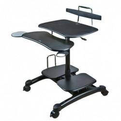 AIDATA Table poste mobile assis/debout pour PC, écran, imprimante