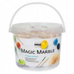 "KREUL Peinture à marbrer ""Magic Marble"", kit Happy Easter"