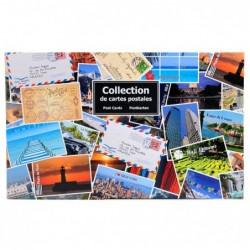 EXACOMPTA Classeur de collection imprimé format horizontal pour 400 cartes postales 44x26,5 cm