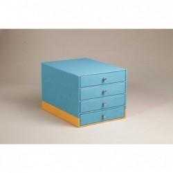RHODIA Trieur 4 tiroirs Turquoise