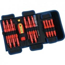 HEYTEC clé d'électriciens VDE, 18 pièces, sac en rouleau