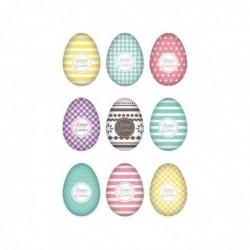 """HERMA Sticker de Pâques TREND """"set d'oeufs colorés"""""""