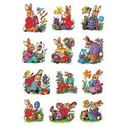 "HERMA Sticker de Paques DECOR ""parade de lapins"" 2 feuilles de 7"