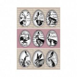 "HERMA Sticker de Pâques TREND ""oeufs de lapins"""