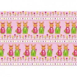 """SUSY CARD Rouleau Papier cadeau Pâques 70g 70 cm x 2 m """"couple de lièvres"""""""