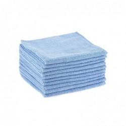 HYGIENE Paquet de 10 chiffons microfibre tout usage - Dimensions 40 x 40 cm Bleu