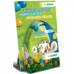 HERMA Décalcomanies pour oeufs de Pâques, en présentoir