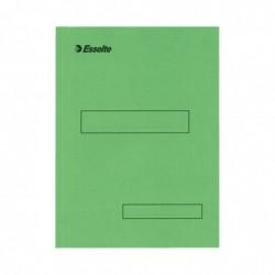 ESSELTE Boîte de 100 Sous-dossiers SCOR Kraft 160g 2 rabats Vert
