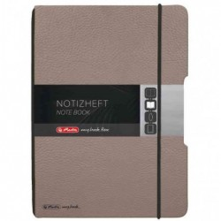 HERLITZ Carnet de notes my.book flex, A5, PU, taupe