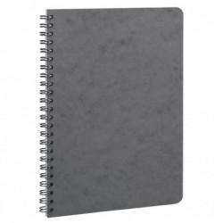 CLAIREFONTAINE carnet reliure intégrale 14,8x21cm 100p 5x5 gris