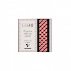 CLAIREFONTAINE Kirigami, carnet 20x20cm 52P, Géométrique