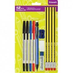 """LUXOR Kit de stylos """"Kit étudiant"""", 12 pièces"""