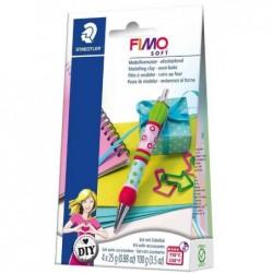 """FIMO SOFT DIY Set de pâte à modeler """"Pen, stylo à bille incl"""
